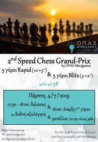 2nd Speed Chess Grand-Prix, by OPAX-Mindgames